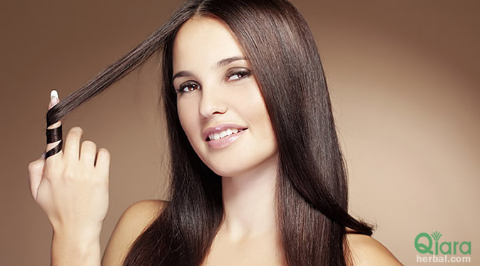 perawatan rambut rontok alami